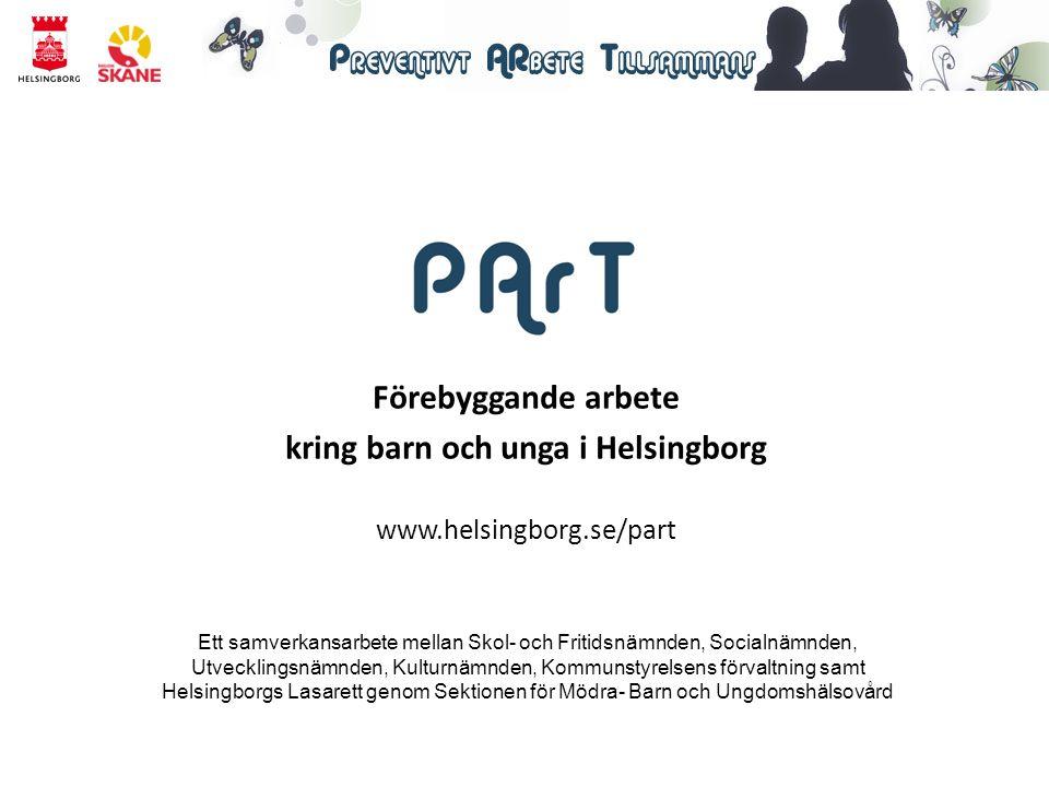 Förebyggande arbete kring barn och unga i Helsingborg www.helsingborg.se/part Ett samverkansarbete mellan Skol- och Fritidsnämnden, Socialnämnden, Utv
