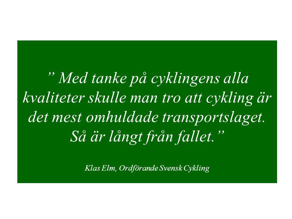 Med tanke på cyklingens alla kvaliteter skulle man tro att cykling är det mest omhuldade transportslaget.