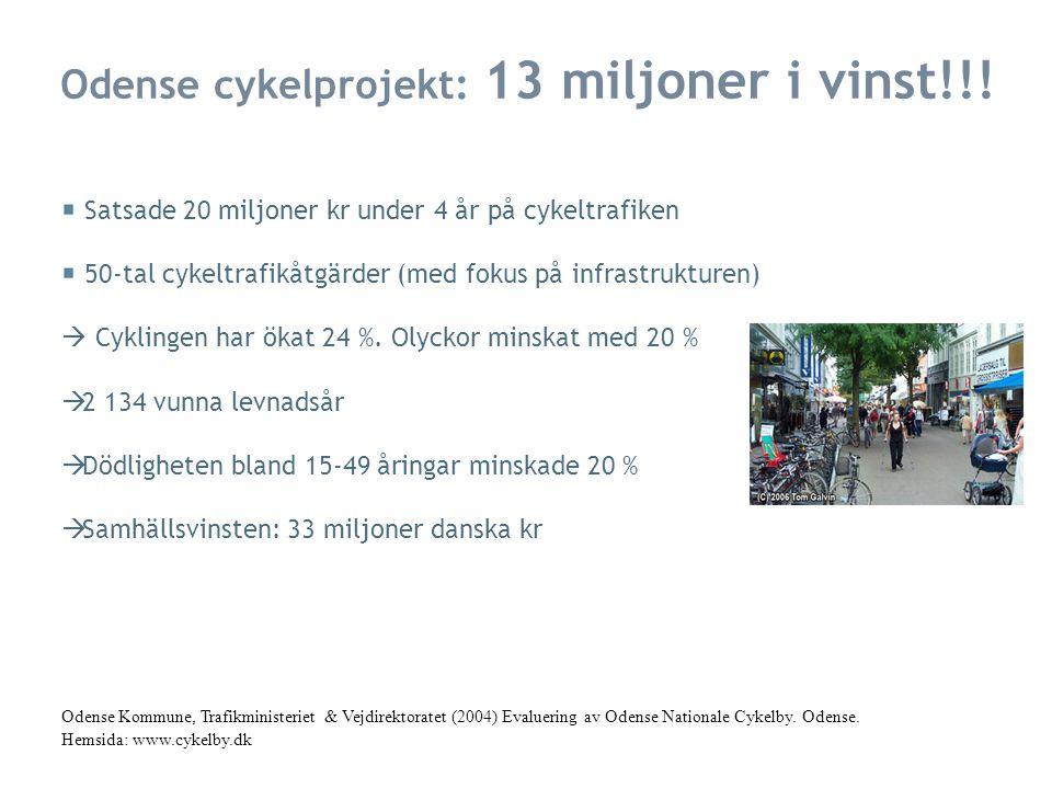 Odense cykelprojekt: 13 miljoner i vinst!!.