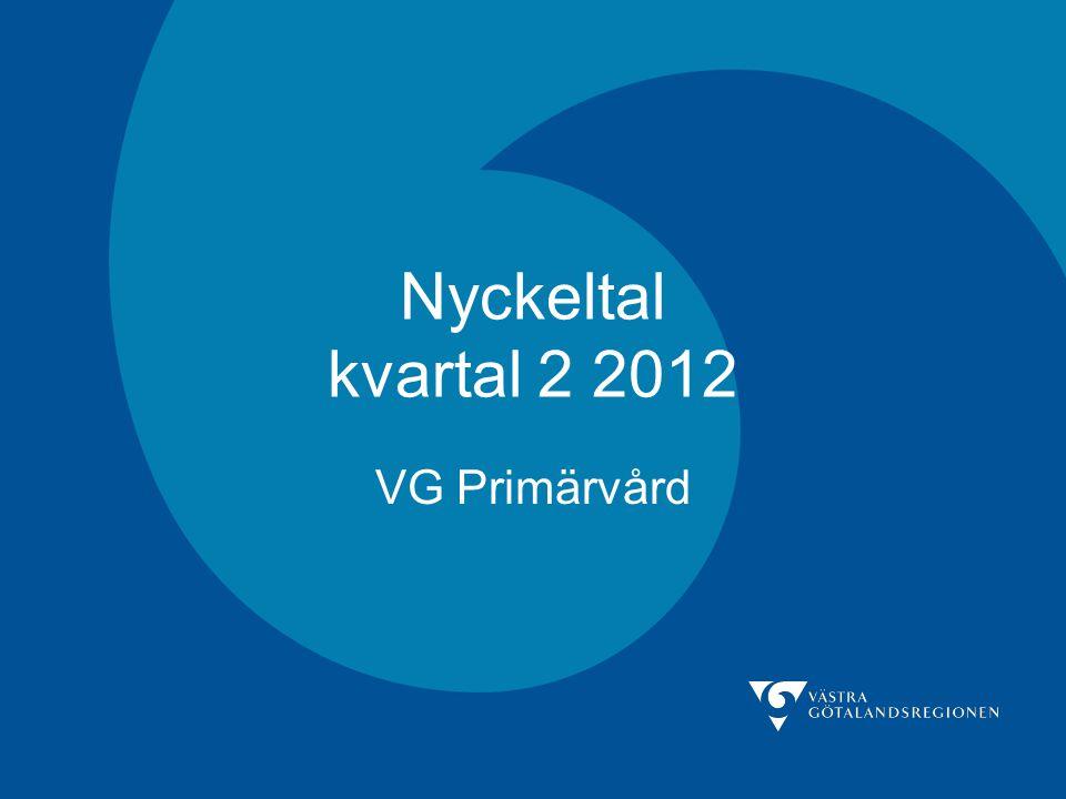 Nyckeltal kvartal 2 2012 VG Primärvård