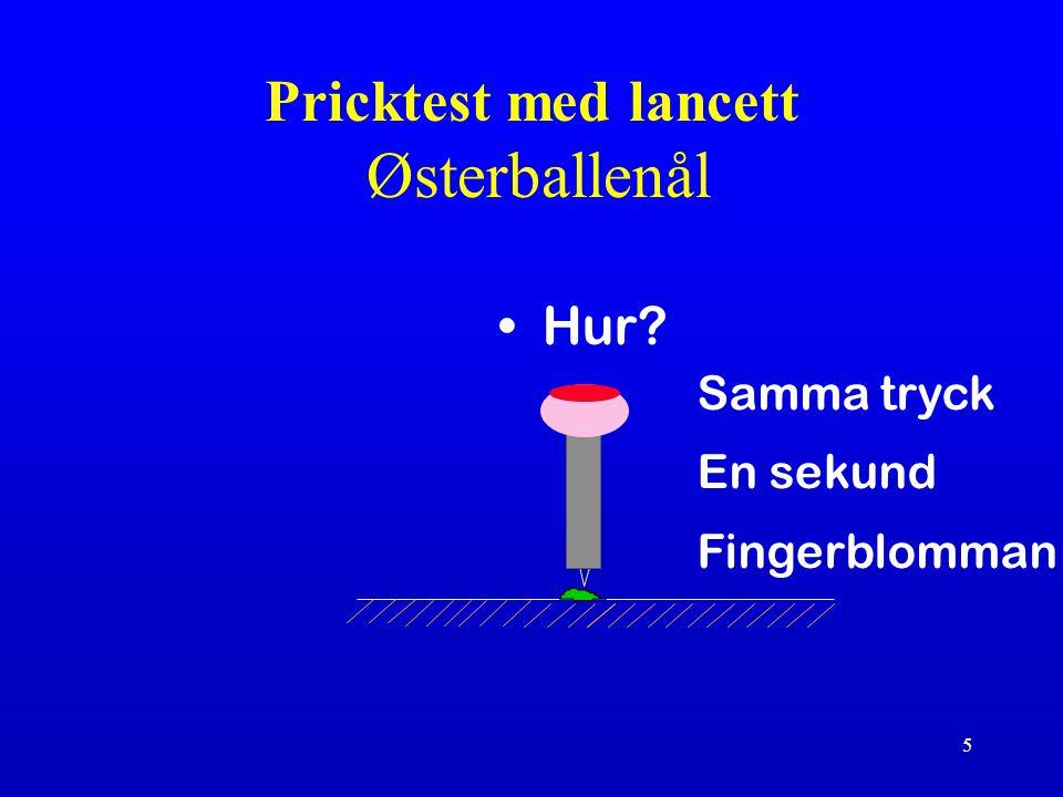 6 Pricktest 3 mm kvaddel positiv (EAACI pp) Soluprick ® ALK 10 HEP Dreborg S.& Frew A.