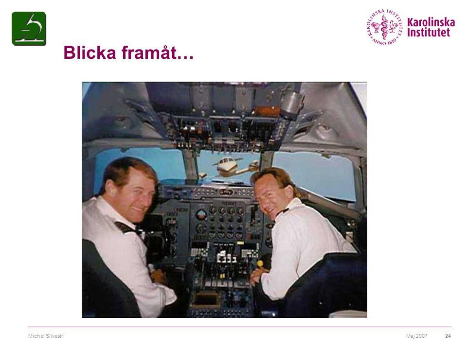 Maj 2007Michel Silvestri24 Blicka framåt…