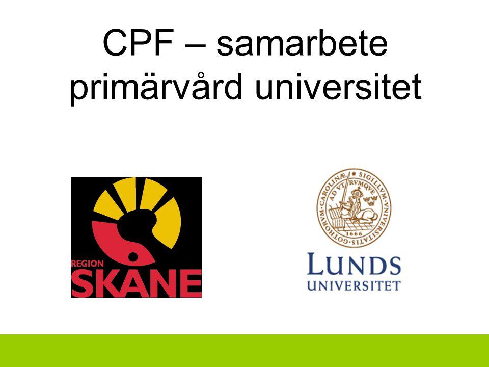 CPF – samarbete primärvård universitet