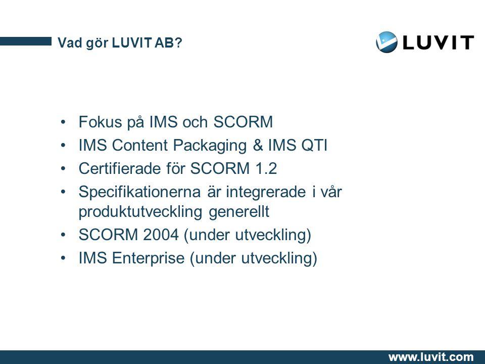 www.luvit.com Vad gör LUVIT AB.
