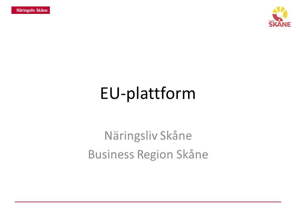 EU-plattform Näringsliv Skåne Business Region Skåne