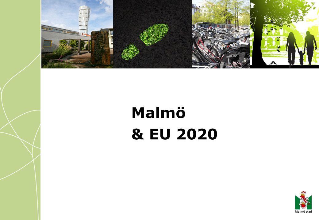 Stukturfonderna och EU 2020 EU2020 Smart tillväxt (kunskap och innovation) Hållbar tillväxt (resurseffektiv, grönare och konkurrenskraftig ekonomi) Tillväxt för alla (hög sysselsättning med social och territoriell sammanhållning) EU2020 i praktiken EU2020 måste översättas till Sammanhållningspolitiken, att överföra mål till investeringsprioriteringar, samt att relatera till fördragsbundna mål
