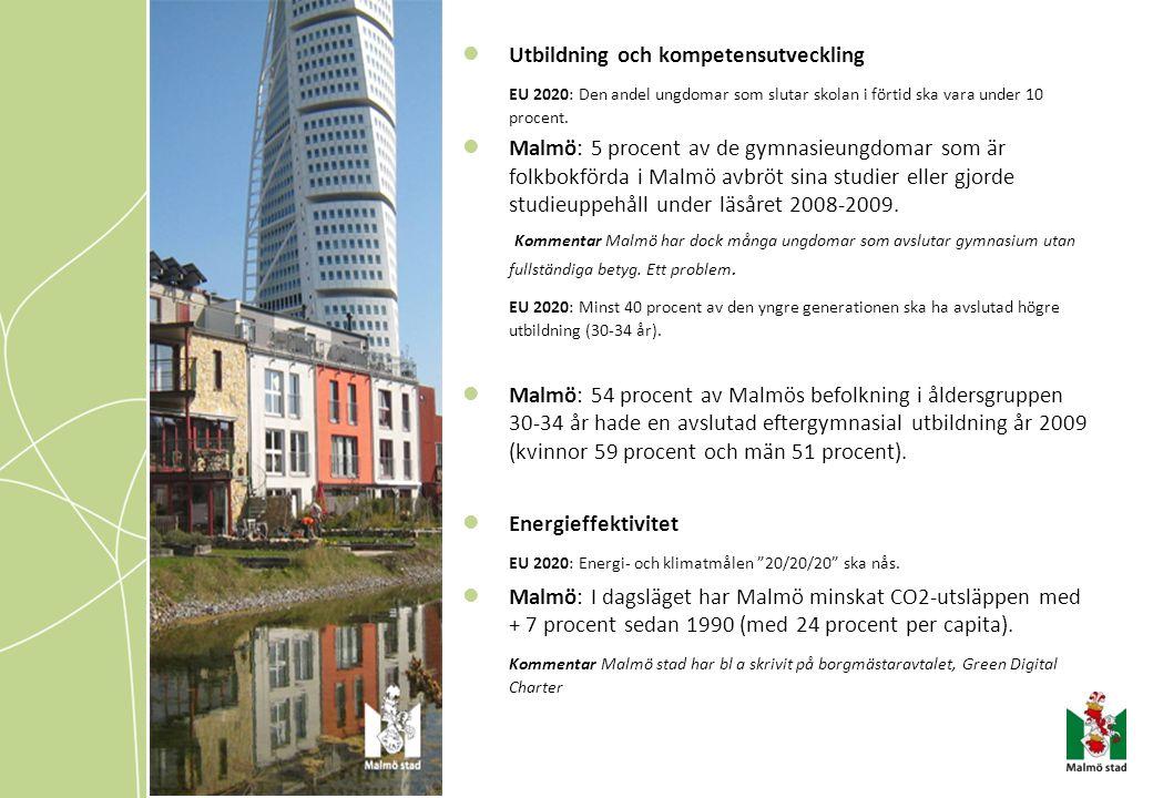 Tillväxtavdelningarnas prioriterade uppgifter för 2011 till stadskontoret VPL 2011 Tillväxten i Malmö ska vara socialt, ekonomiskt och miljömässigt hållbar och inkludera alla stadens medborgare.