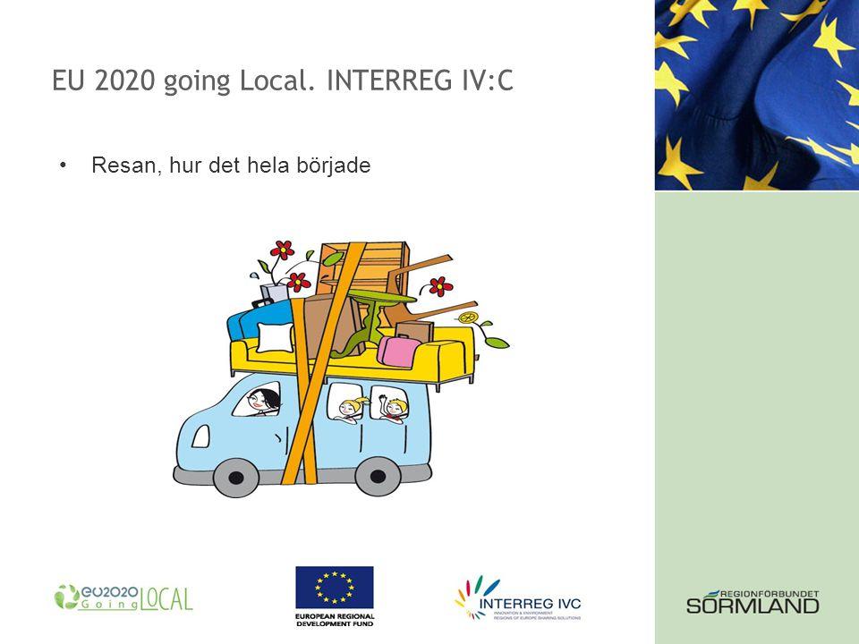 EU 2020 going Local. INTERREG IV:C Resan, hur det hela började