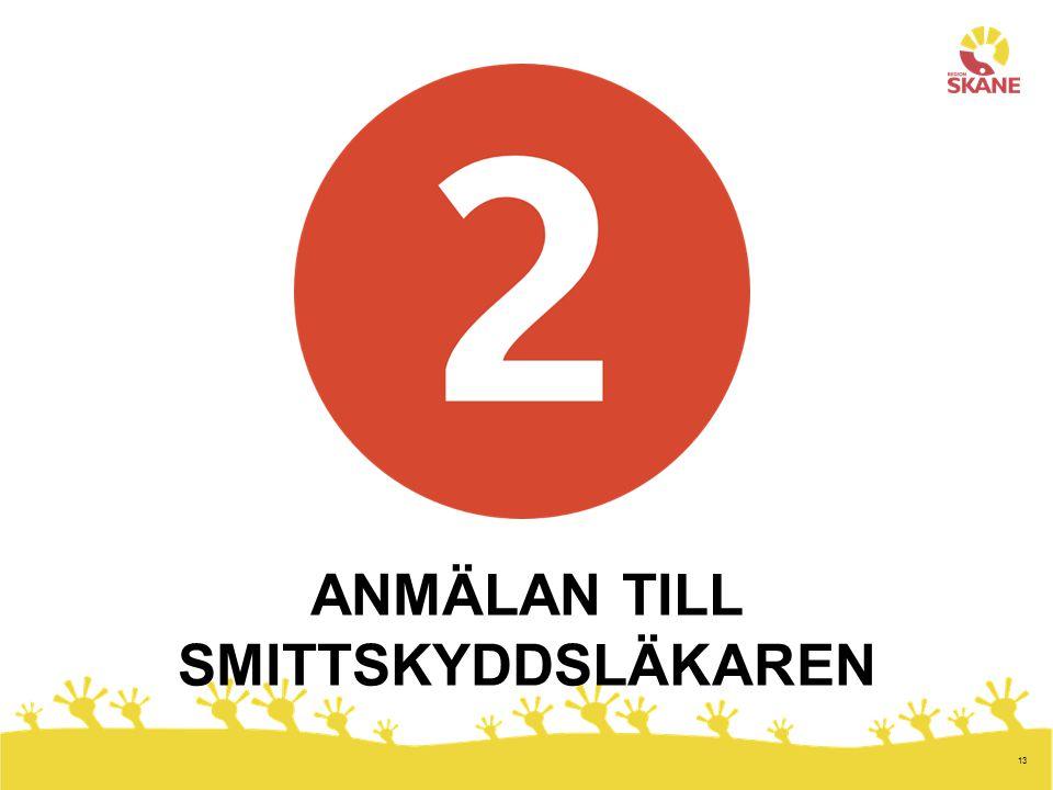 13 ANMÄLAN TILL SMITTSKYDDSLÄKAREN