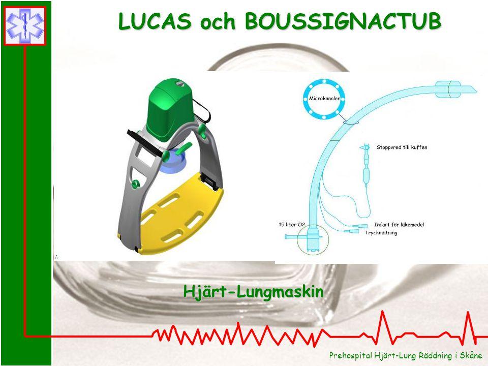 Prehospital Hjärt-Lung Räddning i Skåne LUCAS och BOUSSIGNACTUB Hjärt-Lungmaskin