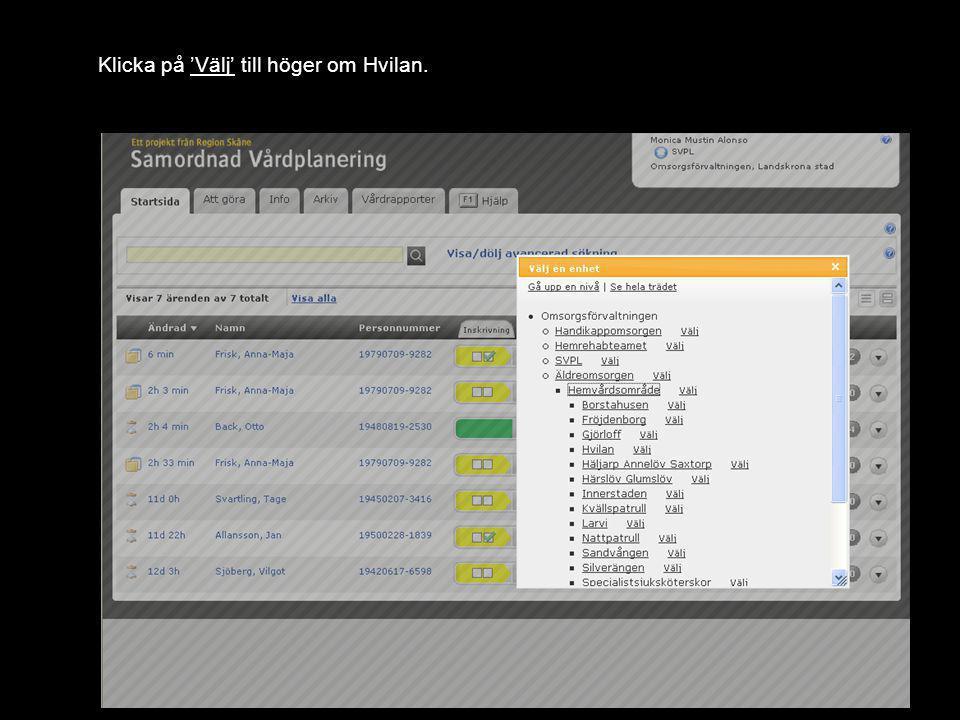 Version 1.0 Du har nu ändrat enhet till Hvilan och har gjort klart övningen.