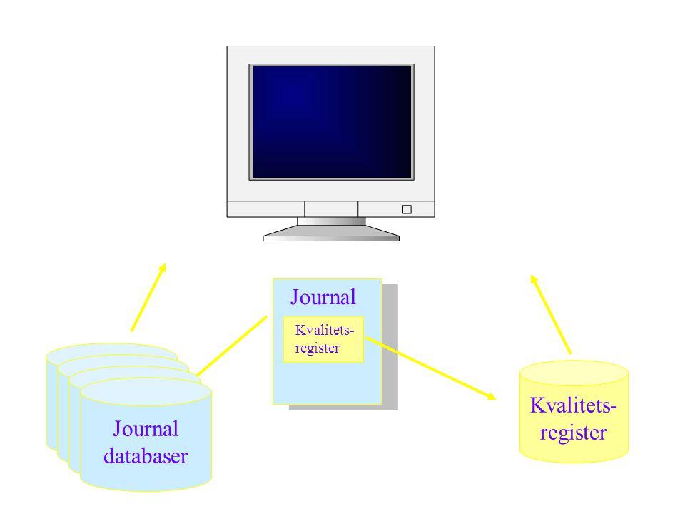 Kvalitets- register Journal databas Journal Kvalitets- register Journal databas Journal databas Journal databaser