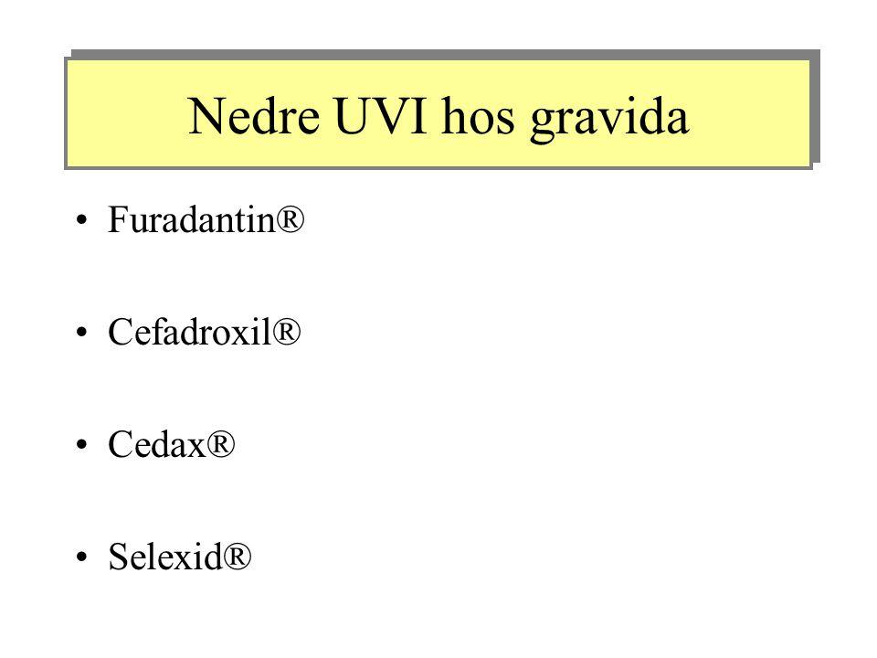 Nedre UVI hos gravida Furadantin® Cefadroxil® Cedax® Selexid®