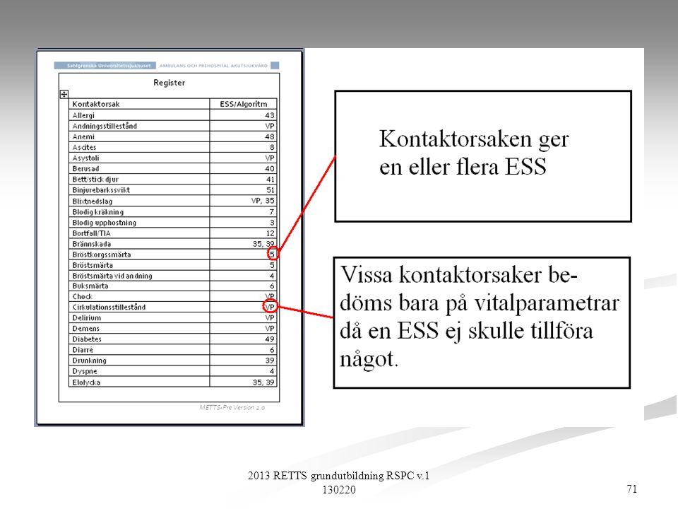 71 2013 RETTS grundutbildning RSPC v.1 130220