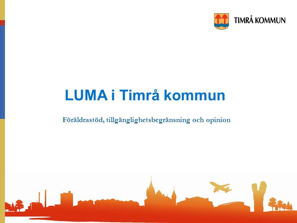 LUMA i Timrå kommun Föräldrastöd, tillgänglighetsbegränsning och opinion