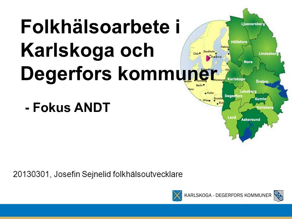 Folkhälsoarbete i Karlskoga och Degerfors kommuner - Fokus ANDT 20130301, Josefin Sejnelid folkhälsoutvecklare