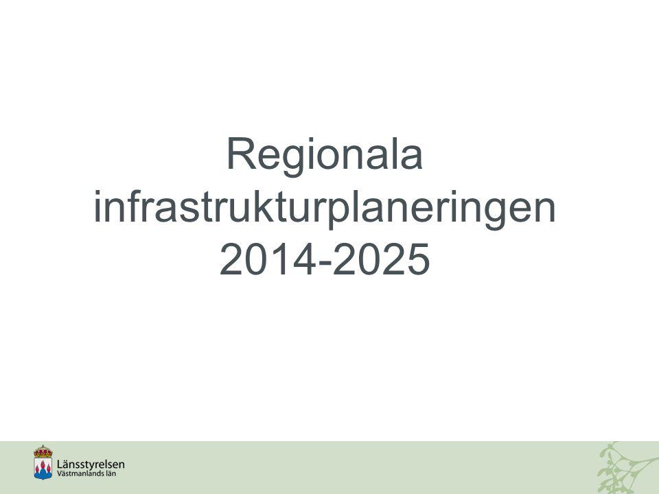 Regionala infrastrukturplaneringen 2014-2025
