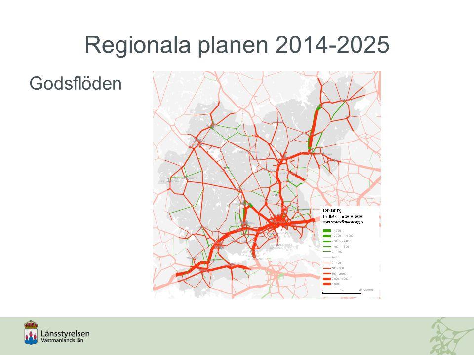 Regionala planen 2014-2025 Godsflöden