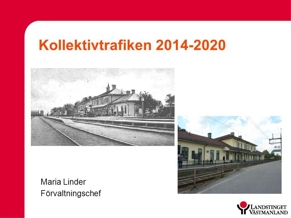 Kollektivtrafiken 2014-2020 Maria Linder Förvaltningschef
