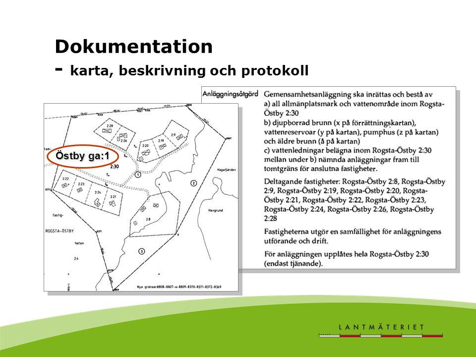 Dokumentation - karta, beskrivning och protokoll Östby ga:1