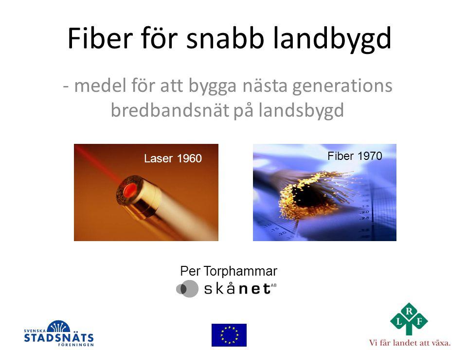 Fiber för snabb landbygd - medel för att bygga nästa generations bredbandsnät på landsbygd Laser 1960 Fiber 1970 Per Torphammar