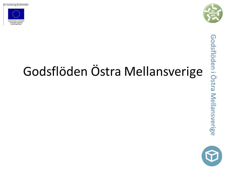 Godsflöden i Östra Mellansverige Godsflöden Östra Mellansverige