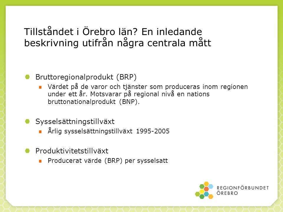 Tillståndet i Örebro län.