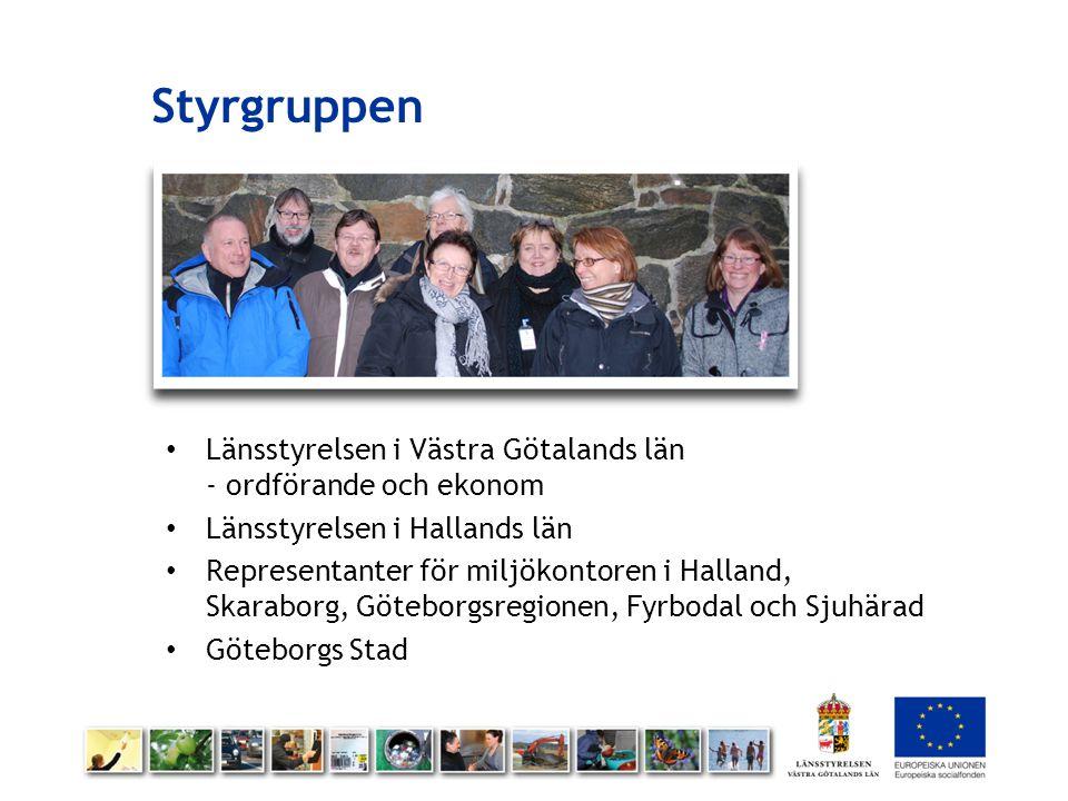 Styrgruppen Länsstyrelsen i Västra Götalands län - ordförande och ekonom Länsstyrelsen i Hallands län Representanter för miljökontoren i Halland, Skar