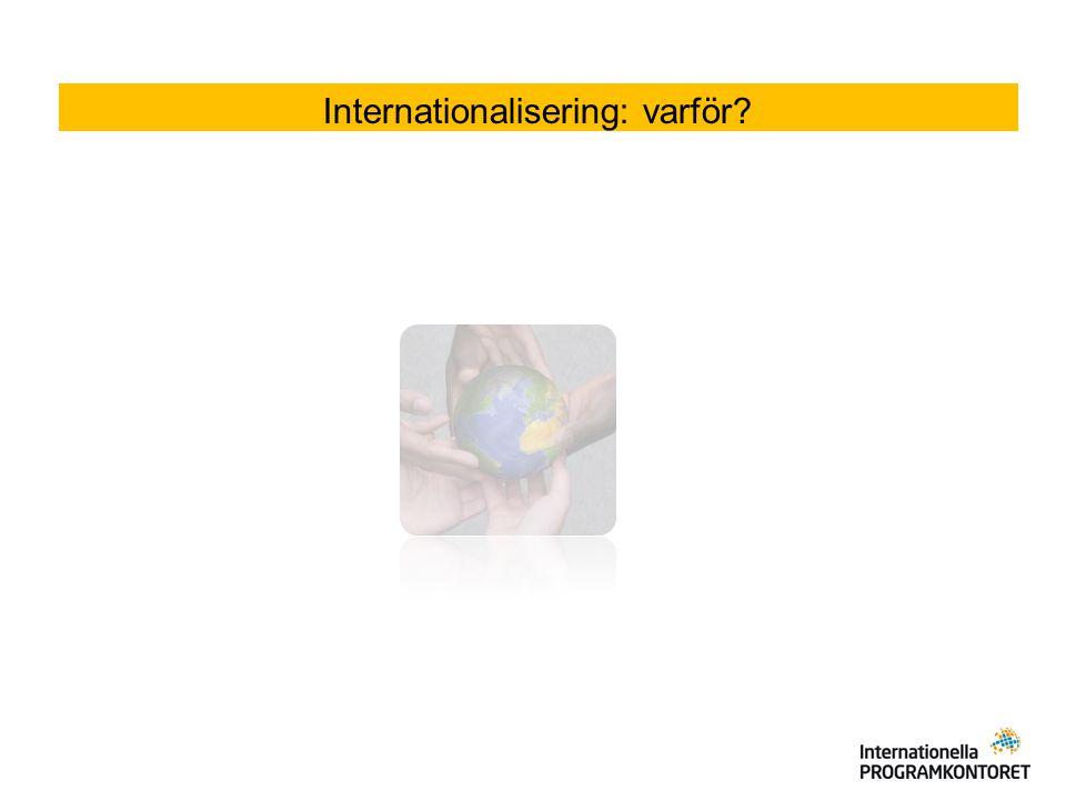 Internationalisering Kompetensutveckling av personal och elever