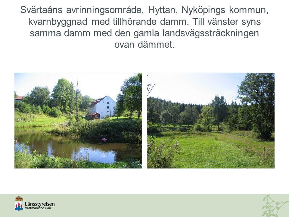Svärtaåns avrinningsområde, Hyttan, Nyköpings kommun, kvarnbyggnad med tillhörande damm.