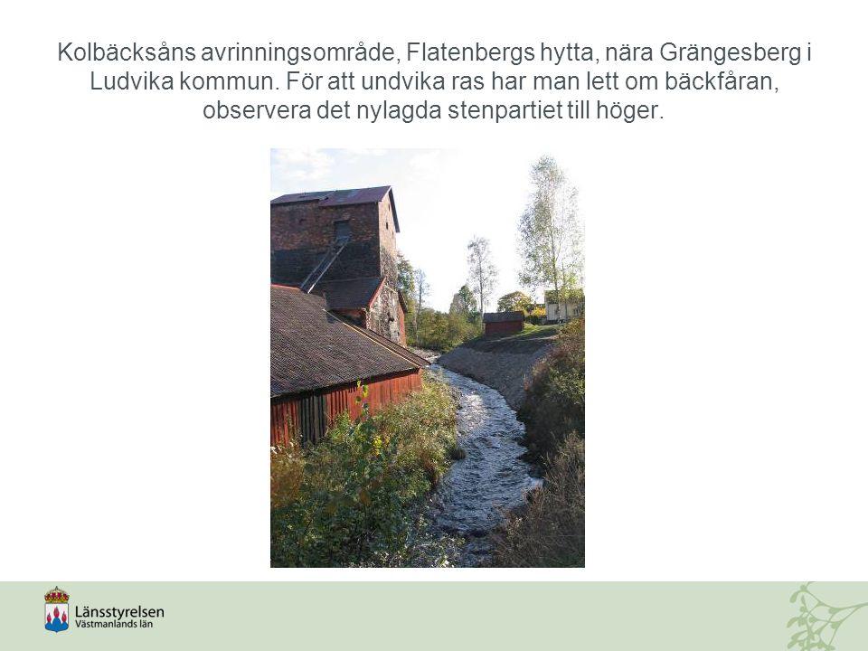 Kolbäcksåns avrinningsområde, Flatenbergs hytta, nära Grängesberg i Ludvika kommun.
