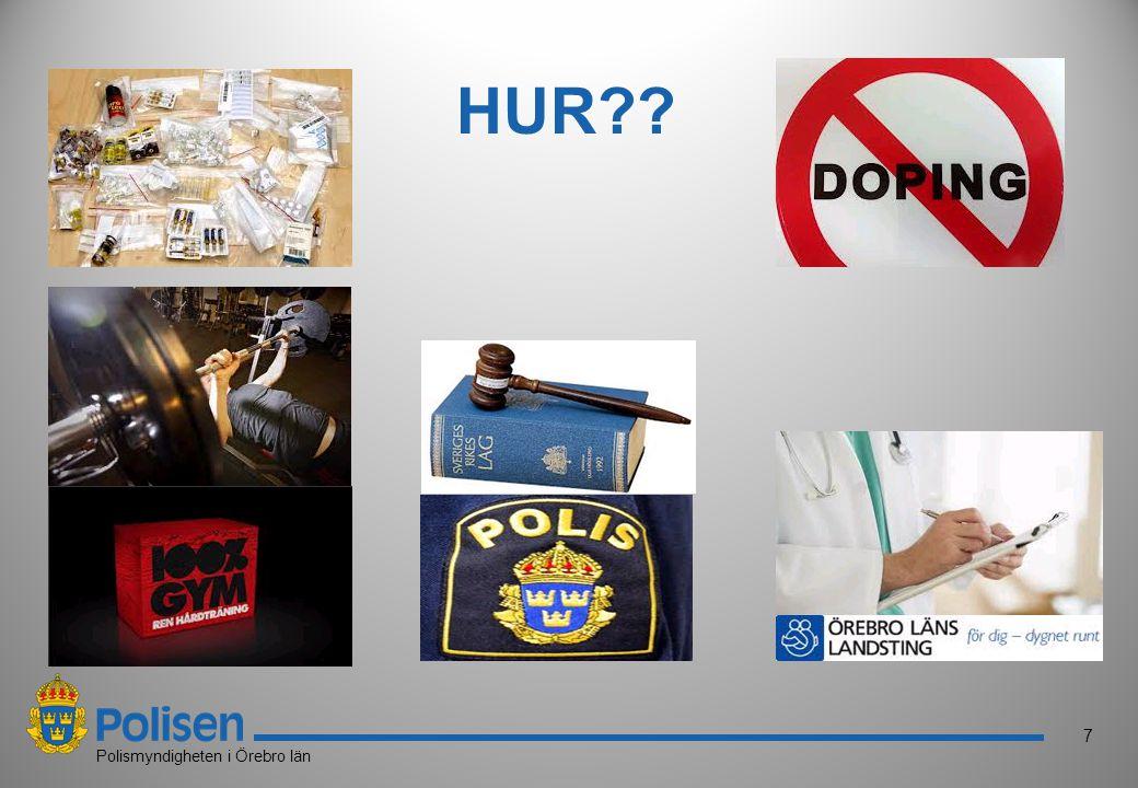 8 Polismyndigheten i Örebro län Nätverk av gym Ägare och instruktörer ska ha genomgått utbildning av PRODIS (Lagstiftning, samtal, tecken, vård, samtal, kosttillskott, dopingkontroller mm) Ska finnas en godkänd policy/handlingsplan Samarbeta med polisen Diplomering