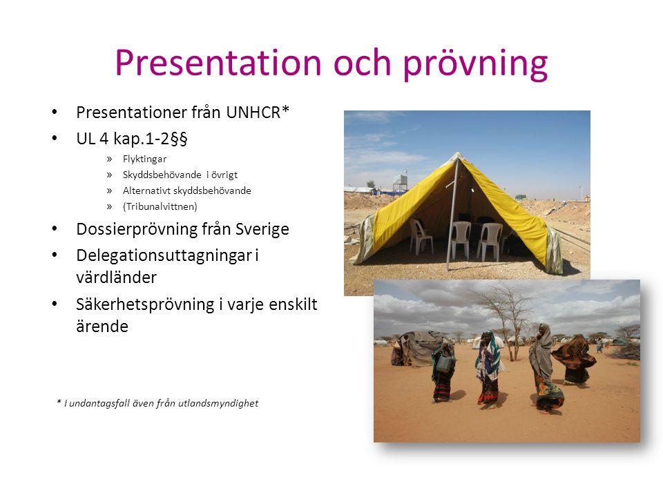 Presentation och prövning Presentationer från UNHCR* UL 4 kap.1-2§§ » Flyktingar » Skyddsbehövande i övrigt » Alternativt skyddsbehövande » (Tribunalv