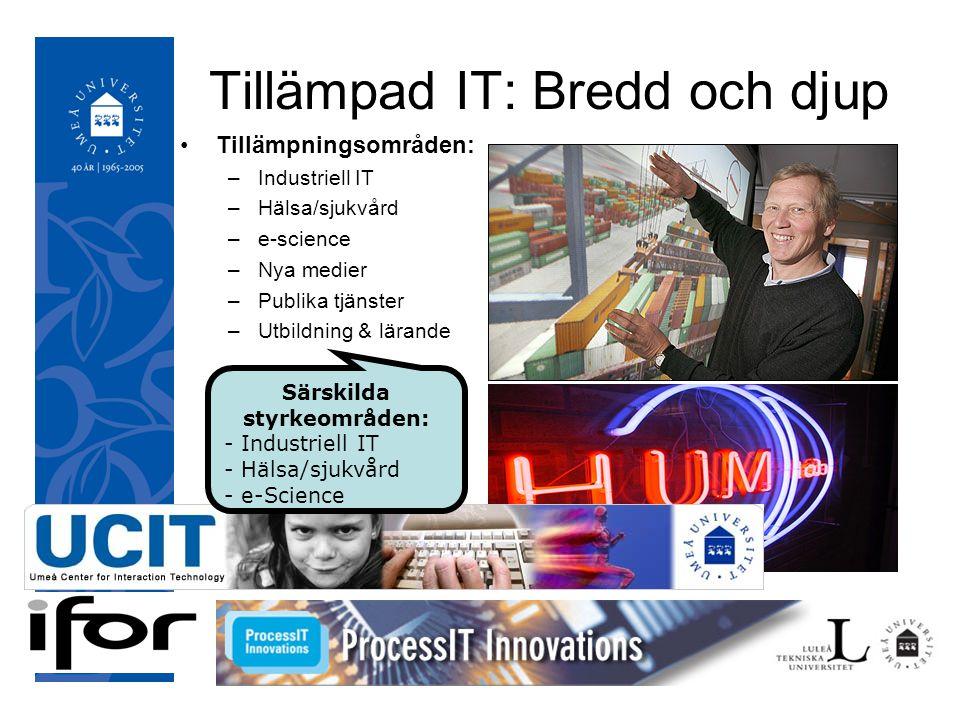 050921 Handlingsplan 2007-2009 Etablera och organisera Tillämpad IT UmU som centrumbildning vid Umeå universitet Gemensam resursförstärkning avseende kommande 5- årsperiod Profilering och positionering av Tillämpad IT UmU som IT-innovationsmiljö Stärkta innovations- och kommersialiseringsprocesser Förankring av Tillämpad IT UmU:s vision bland övriga relevanta regionala aktörer