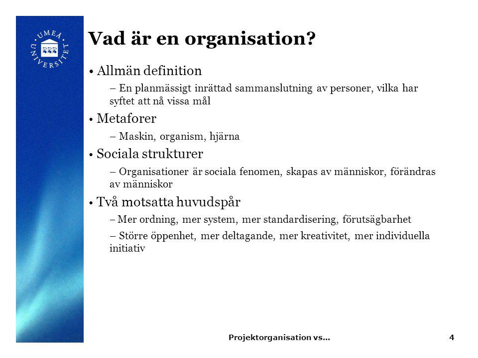 Organisationer och struktur Varför uppstår organisatorisk struktur.