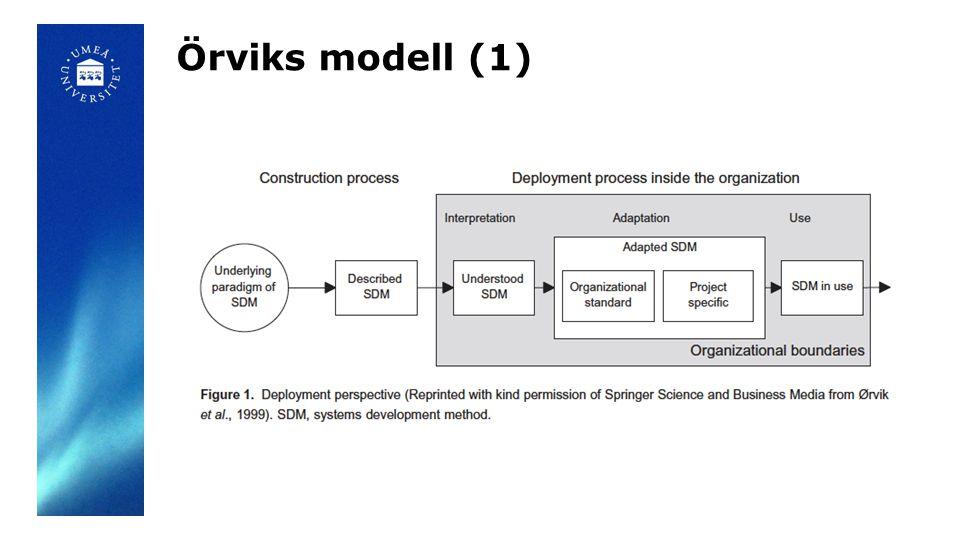 Örviks modell (1)
