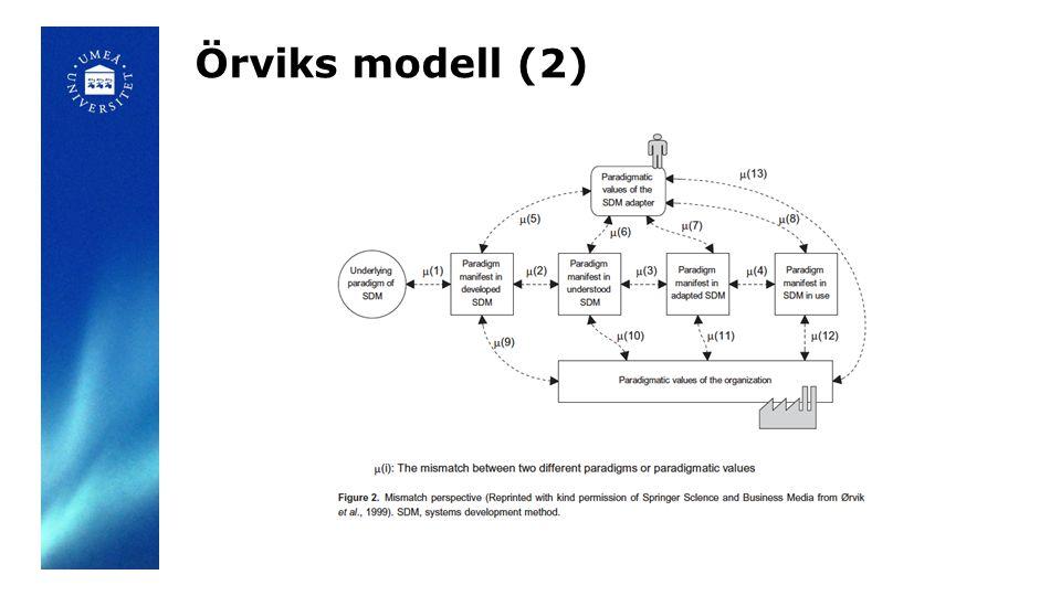 Örviks modell (2)