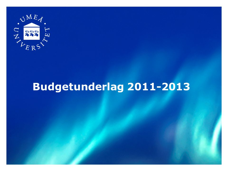 Budgetunderlaget - en del i dialogen med regeringen Budgetunderlag (februari) Dialog med departementet (mars-maj) Budgetproposition (sep/okt) Regleringsbrev (december) Årsredovisning (februari)
