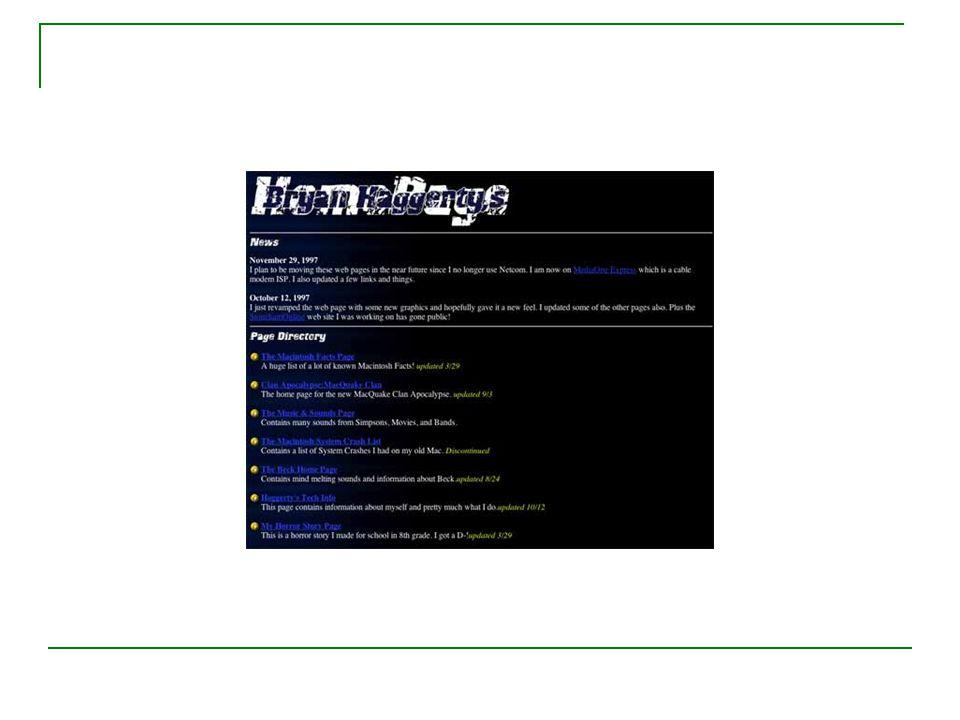 I början… Kreativa webbskapare upptäckte att man kunde styra upp layouten med tabeller Netscape tryckte ur sig nya markuptaggar i hejdundrande fart Microsoft ville inte vara sämre… Webbsidorna blev en enda sörja av innehåll och utseende