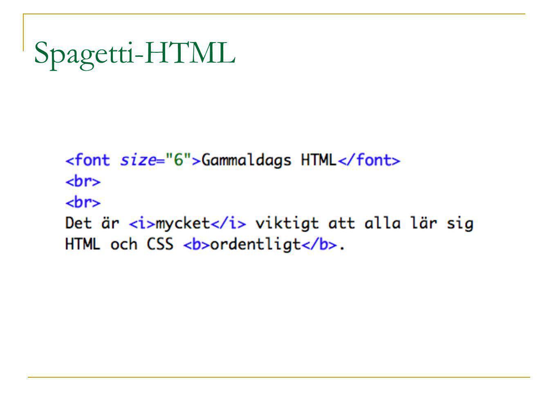 Spagetti-HTML