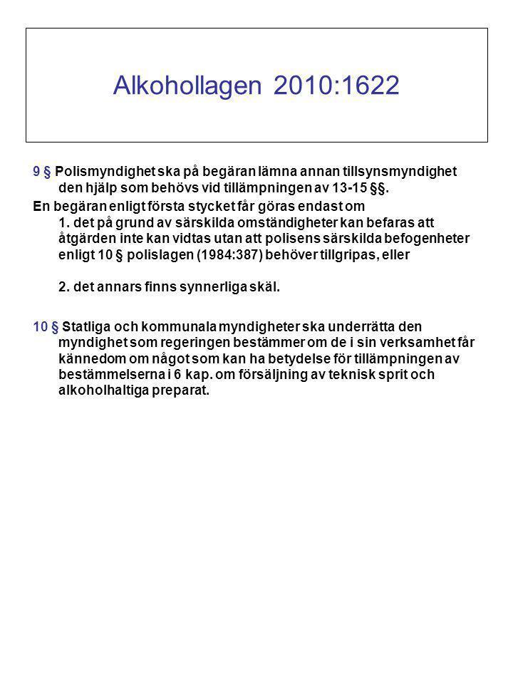 9 § Polismyndighet ska på begäran lämna annan tillsynsmyndighet den hjälp som behövs vid tillämpningen av 13-15 §§.