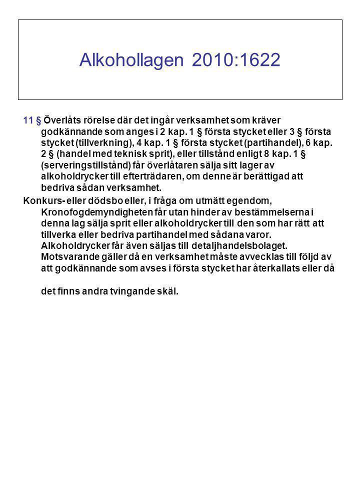 11 § Överlåts rörelse där det ingår verksamhet som kräver godkännande som anges i 2 kap.