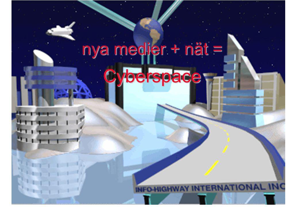 nya medier + nät = Cyberspace