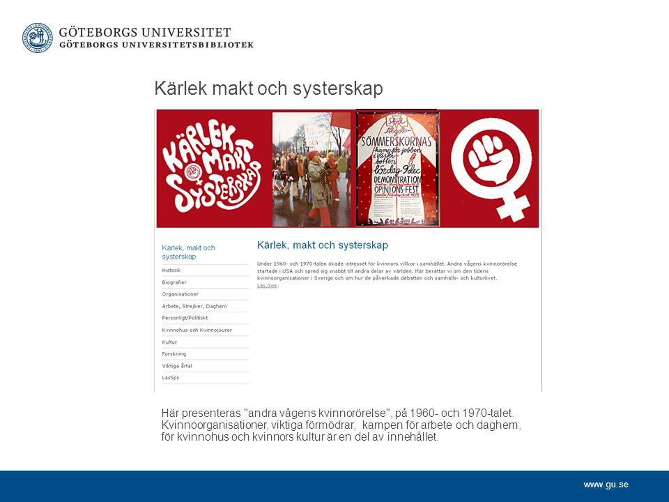 www.gu.se Kvinnors kamp för rösträtt Landsföreningen för kvinnans politiska rösträtt drev kampen för kvinnors rösträtt i Sverige.