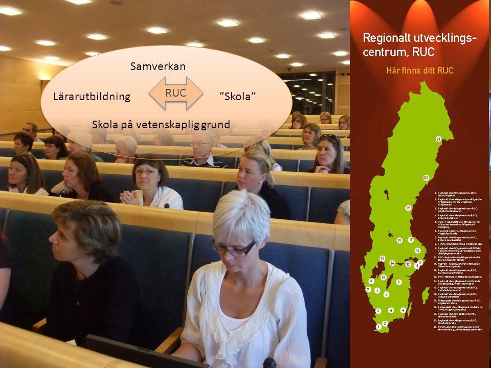 """RUC Lärarutbildning""""Skola"""" Skola på vetenskaplig grund Samverkan"""