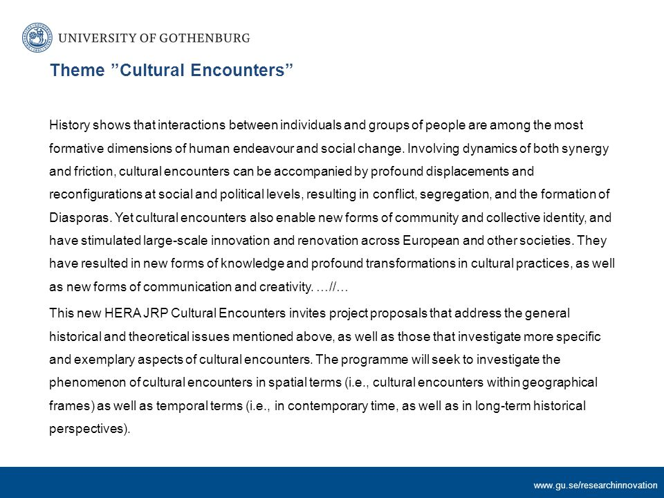 www.gu.se/researchinnovation Horizon 2020 – the Framework Programme for Research and Innovation (2014-2020)