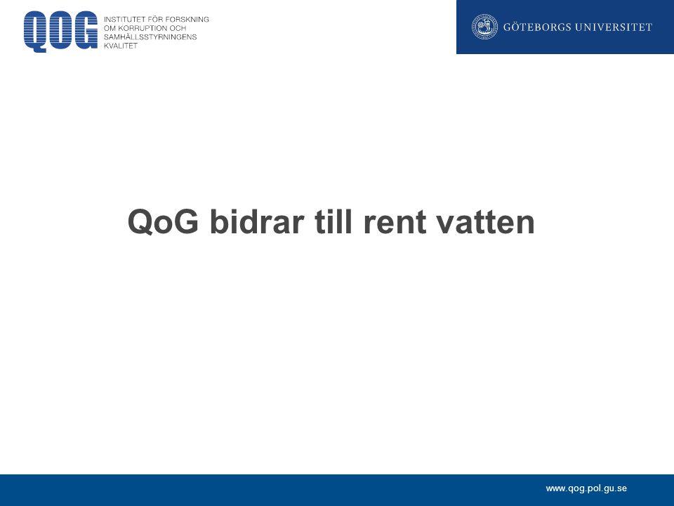 www.qog.pol.gu.se QoG bidrar till rent vatten