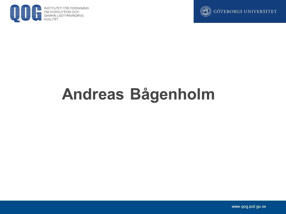 www.qog.pol.gu.se Andreas Bågenholm