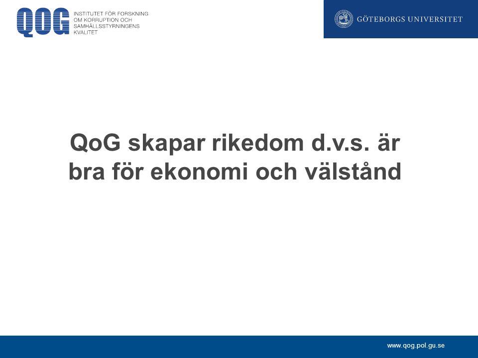 www.qog.pol.gu.se Bistånd och korruption: resultat 3 Biståndets antikorruptionsåtgärder: Traditionella antikorruptionsåtgärder kan ibland vara kontraproduktiva