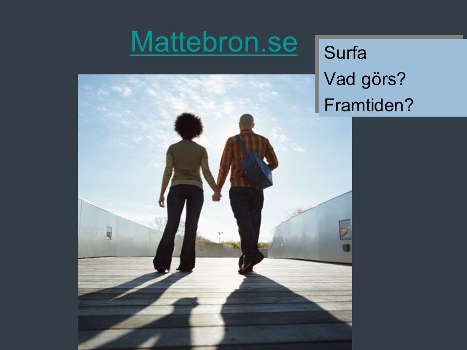 Mattebron.se Surfa Vad görs Framtiden Surfa Vad görs Framtiden